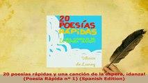 PDF  20 poesías rápidas y una canción de la espera danza Poesía Rápida nº 1 Spanish  EBook