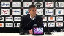 J38 / La conférence de presse de J.Gourvennec après EAG-Nice (2-3)