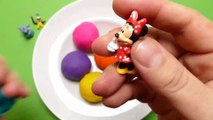 Surprise Balls Play Doh  Spoon Game Power Ranger, Minnie Mouse, Monsters