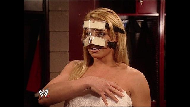 Trish Stratus, Shelton Benjamin and Mr. McMahon Backstage Segment
