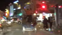 Konya - Üç Tekerlekli Motosiklet ve Kamyonette Tehlikeli Yolculuk