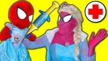 Frozen Elsa DOCTOR Spidergirl Spiderbaby Elsa sick Spiderman Doctor Superheroes in Real Life SHMIRL (1080p)