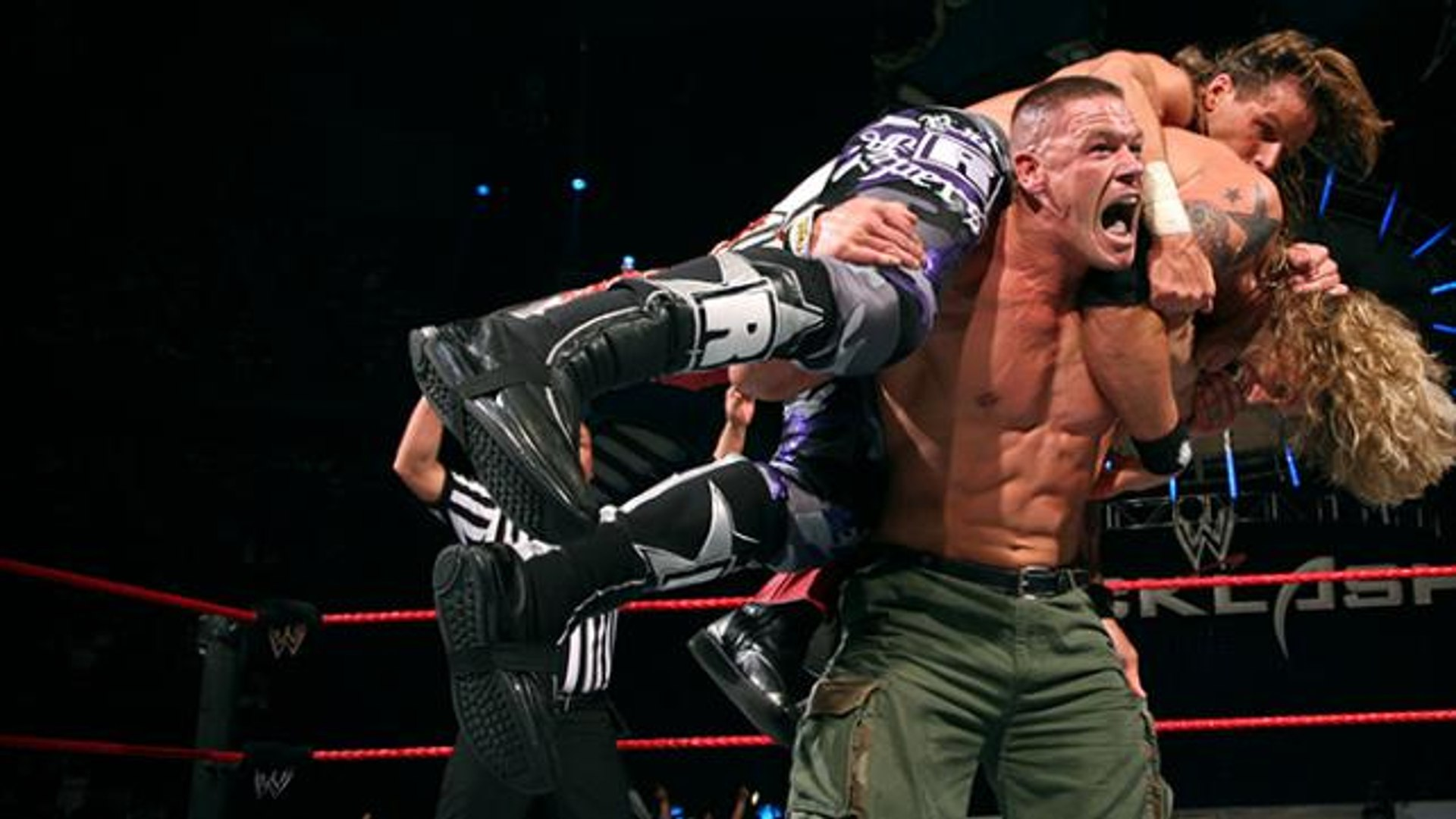 Image result for WWE Backlash 2007 John Cena vs Edge vs Randy Orton vs Shawn Michaels wwe.com