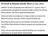 Bannu Sucide Attack 20 people killed