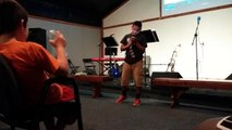 Gabriel Navarro Preaching Wednesday Youth Night 7 23 2014