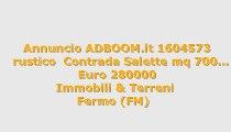 rustico  Contrada Salette mq 700...