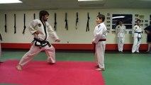 Awesome TKD kids! Big attacker, little 10 year old defender. Hapkido. Hekido. Judo. Self defense.