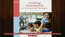 FREE PDF  Linking Assessment to Instructional Strategies A Guide for Teachers  DOWNLOAD ONLINE