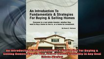 READ book  An Introduction To Fundamentals  Strategies For Buying  Selling Homes How To Buy Sell Online Free