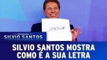Silvio Santos brinca no Jogo dos Pontinhos e mostra a sua letra
