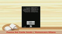 Download  Poema Del Cante Jondo  Romancero Gitano  Read Online