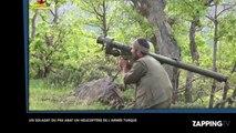Un combattant kurde du PKK abat un hélicoptère de l'armée turque au lance-missiles (Vidéo)