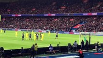 CLASS!!! PSG vs Nantes stops in the 10th minute as fans give Zlatan Ibrahimovic a standing ovation.