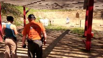 1st stage of my 1st USPSA match with a Glock 19