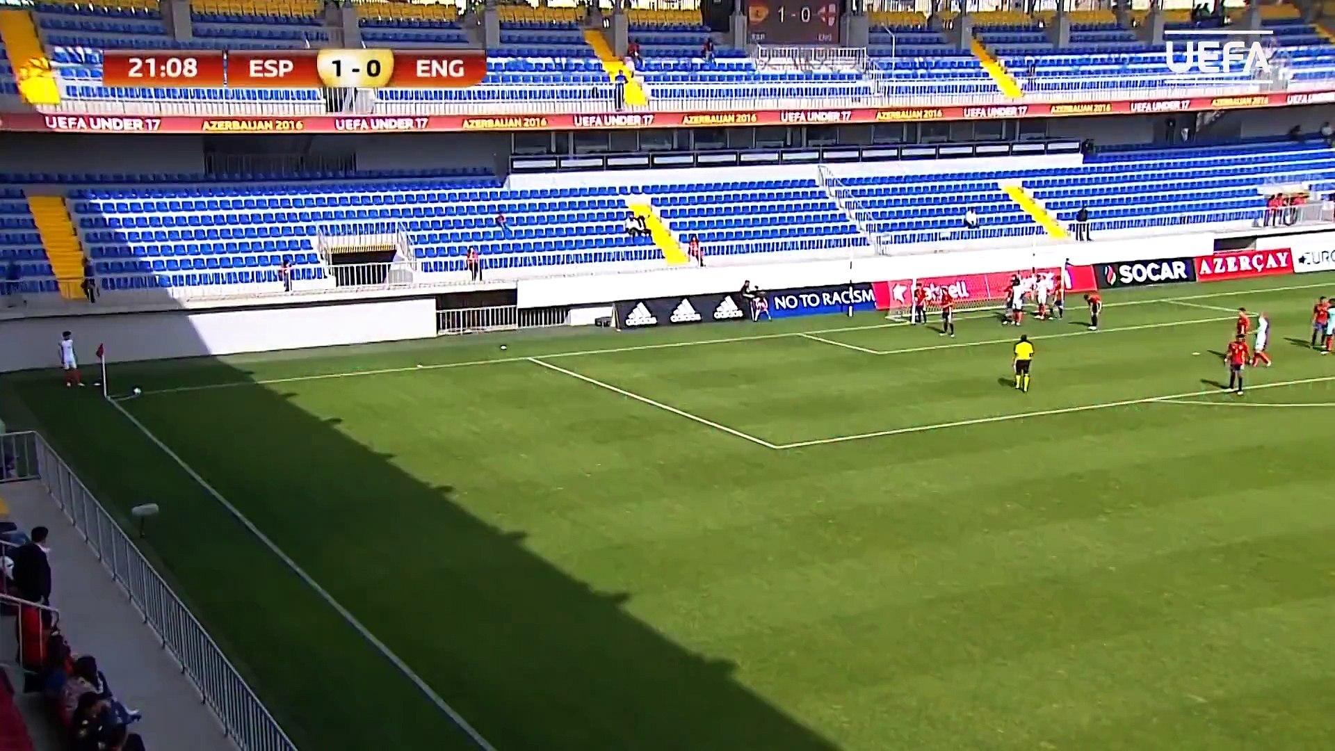 UEFA Under-17 Highlights Spain 1-0 England