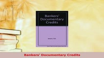 PDF  Bankers Documentary Credits  Read Online