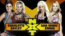 Charlotte and Bayley vs Dana Brooke and Emma NXT TakeOver: Unstoppable