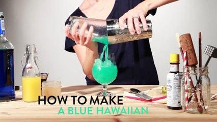 How to make a Blue Hawaiian