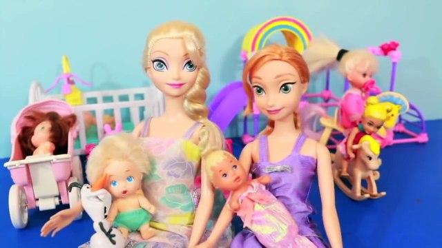 ELSA DAYCARE Play Doh Barbie FROZEN PARODY PEPPA PIG Part 1 Anna Maleficent Babysit AllToyCollector