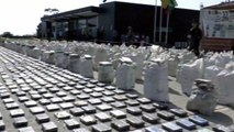 Colombian police find eight tons of cocaine
