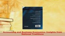 PDF  Accounting and Business Economics Insights from National Traditions Download Online