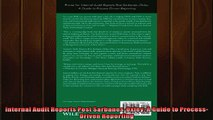 Free book  Internal Audit Reports Post SarbanesOxley A Guide to ProcessDriven Reporting