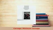 Download  Carnage Minimum Carnage PDF Online