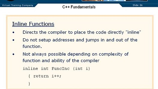 05 C++ Enums 29 Inline Functions - video dailymotion