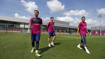 FC Barcelona training session: Preparations begin for the Copa del Rey final