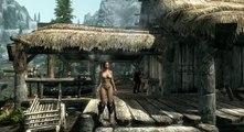 Skyrim Mods: Dragonbone Ebonsteel Armor, Sword & Shield Pack - video