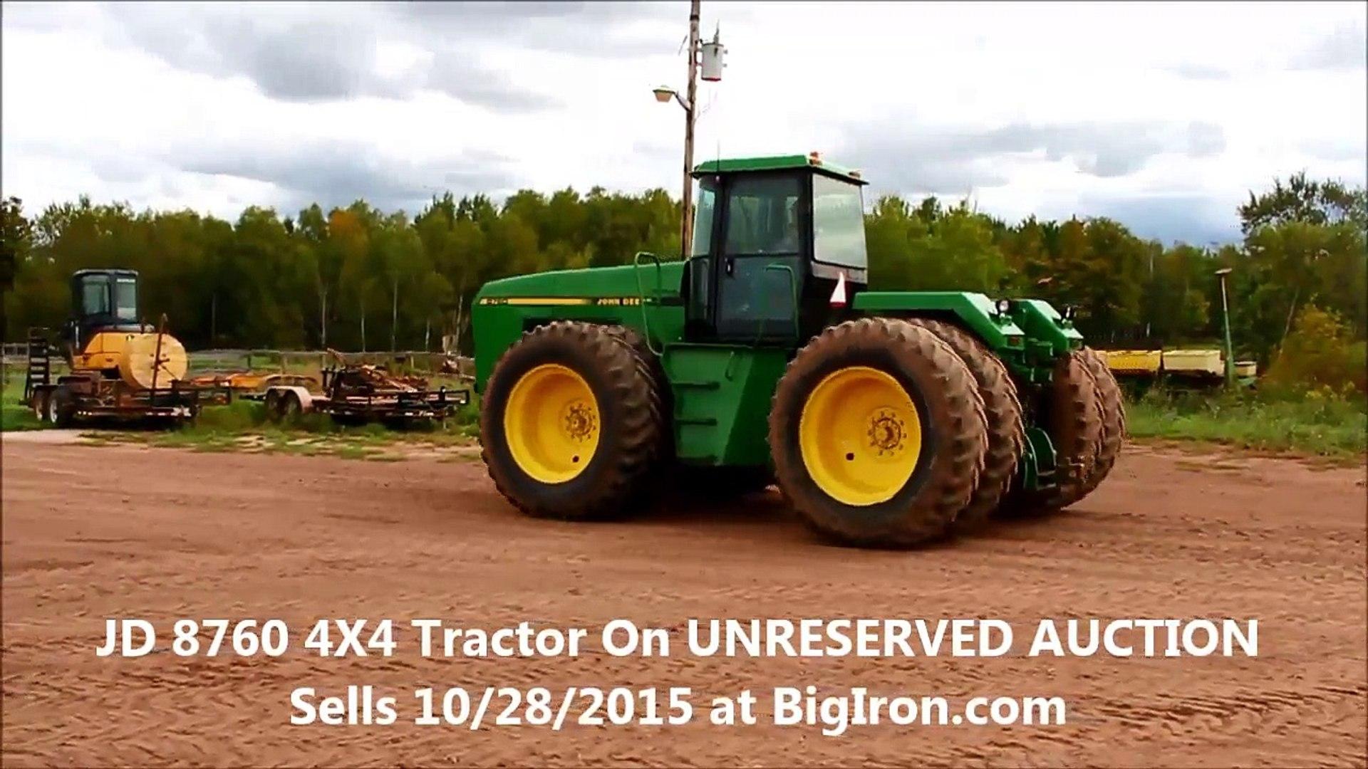Big Iron Auctions 10/28/2015 John Deere 8760 4X4 Tractor