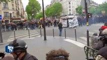 Manifestation contre la loi Travail: premiers heurts dans le cortège parisien