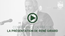Présentation officielle de René Girard