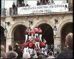 Castellers de Barcelona: 3d9f Vilanova la Geltrú 28/12/2004