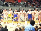 平成25年春場所西方土俵入り/The ceremony of sumo wrestlers, rikishi entering the ring, 2013