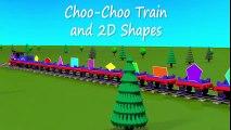 Shapes for kids kindergarten toddlers preschoolers. Shape train. Choo-Choo and 2D shapes. Cartoon | HD