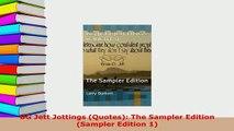 Download  BG Jett Jottings Quotes The Sampler Edition Sampler Edition 1 Free Books