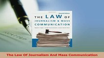 PDF  The Law Of Journalism And Mass Communication Download Full Ebook