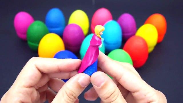 NEW  Playdoh SURPRISE EGGS Lightning MCQUEEN CARS 2 Peppa Pig Toys Playdough Videos for Children 201