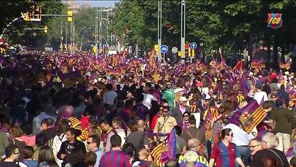 A festa do Barcelona após o título na visão dos jogadores