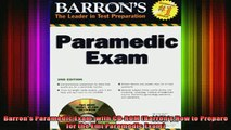 best book  Barrons Paramedic Exam with CDROM Barrons How to Prepare for the Emt Paramedic Exam