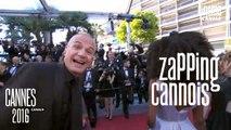 Zapping cannois avec Julie Gayet, Kristen Stewart, Hatem Ben Arfa - 17/03 - Cannes 2016 - Canal+