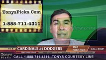 St Louis Cardinals vs. LA Dodgers Pick Prediction MLB Baseball Odds Preview 5-14-2016