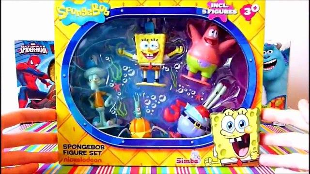 Spongebob Squarepants Figure Set Unboxing Patrick Star, Squidward Tentacles, Sandy Cheeks Krabs