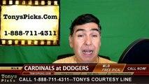 St Louis Cardinals vs. LA Dodgers Pick Prediction MLB Baseball Odds Preview 5-15-2016