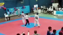 sajawal (blue)vs kamran (red) national taekwondo championship karachi 1st round