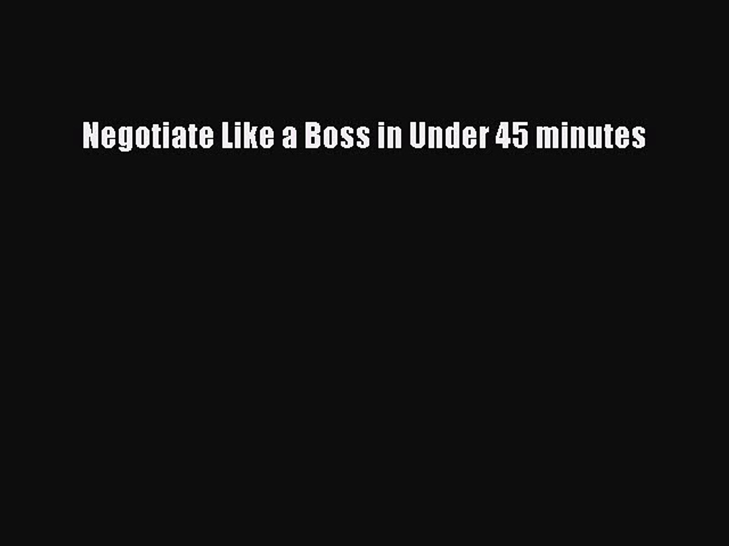 Negotiate Like a Boss with Chris Voss