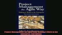 Downlaod Full PDF Free  Project Management the Agile Way Making It Work in the Enterprise 2nd Edition Full EBook