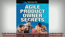 READ book  Agile Product Owner Secrets Valuable Proven Results for Agile Management Review Business Full EBook