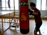 Entrainement o free fight o corp a cord et pied poing